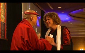 Laura Peterson & Dalai Lama